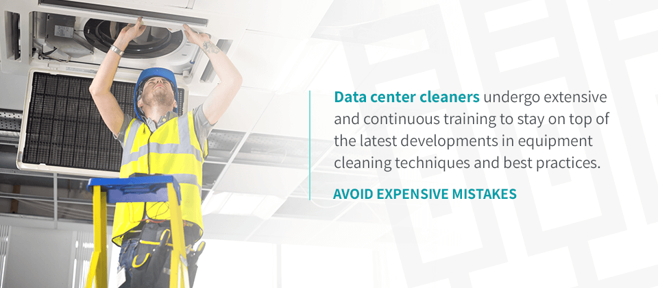 data center cleaning professionals